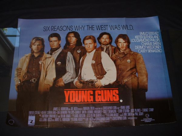 YOUNG GUNS Original UK Quad ref 162